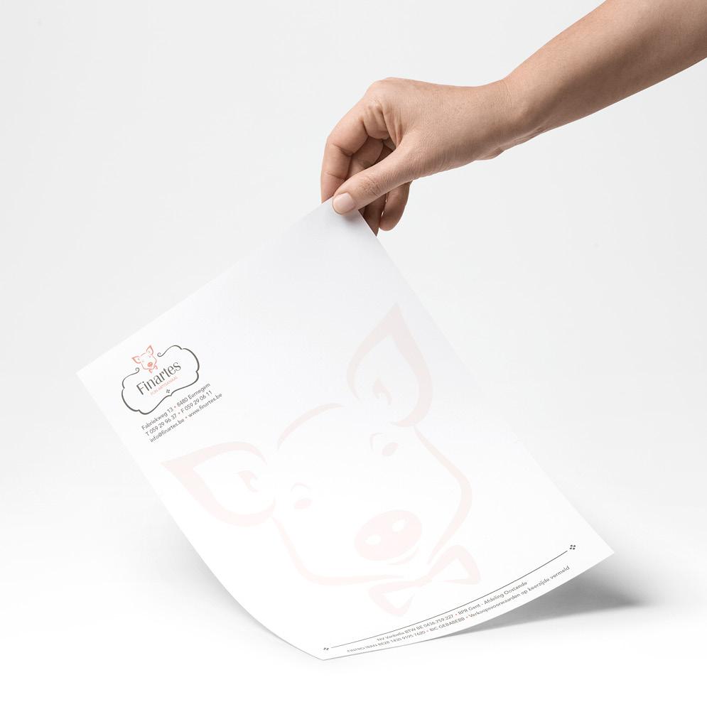 Briefpapier voor Finartes