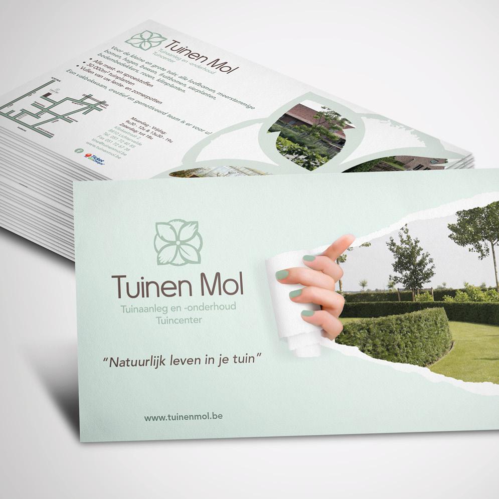 Flyer voor Tuinen Mol