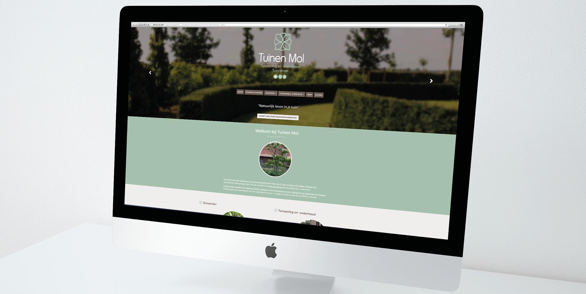Website voor Tuinen Mol - Huisstijl