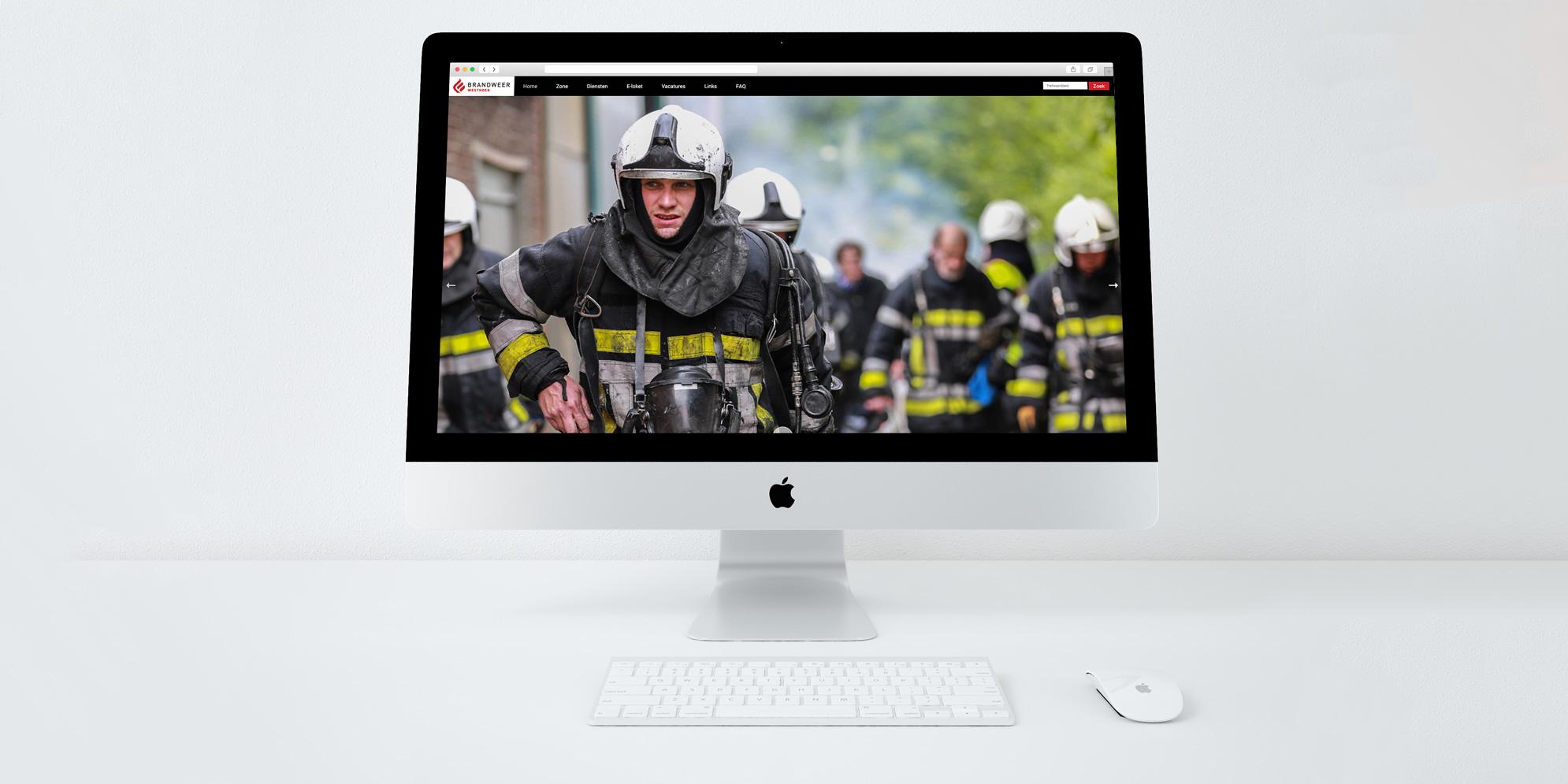 Website voor Brandweer Westhoek