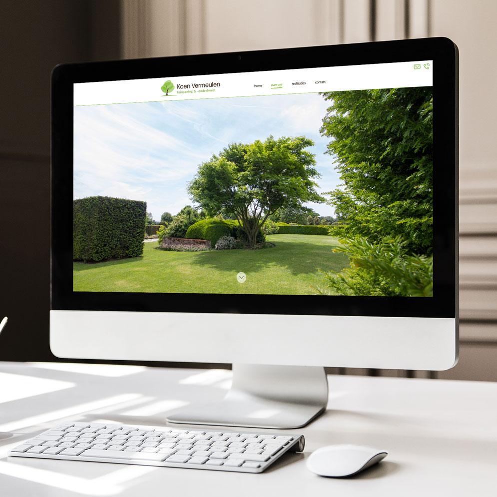 Website voor Koen Vermeulen