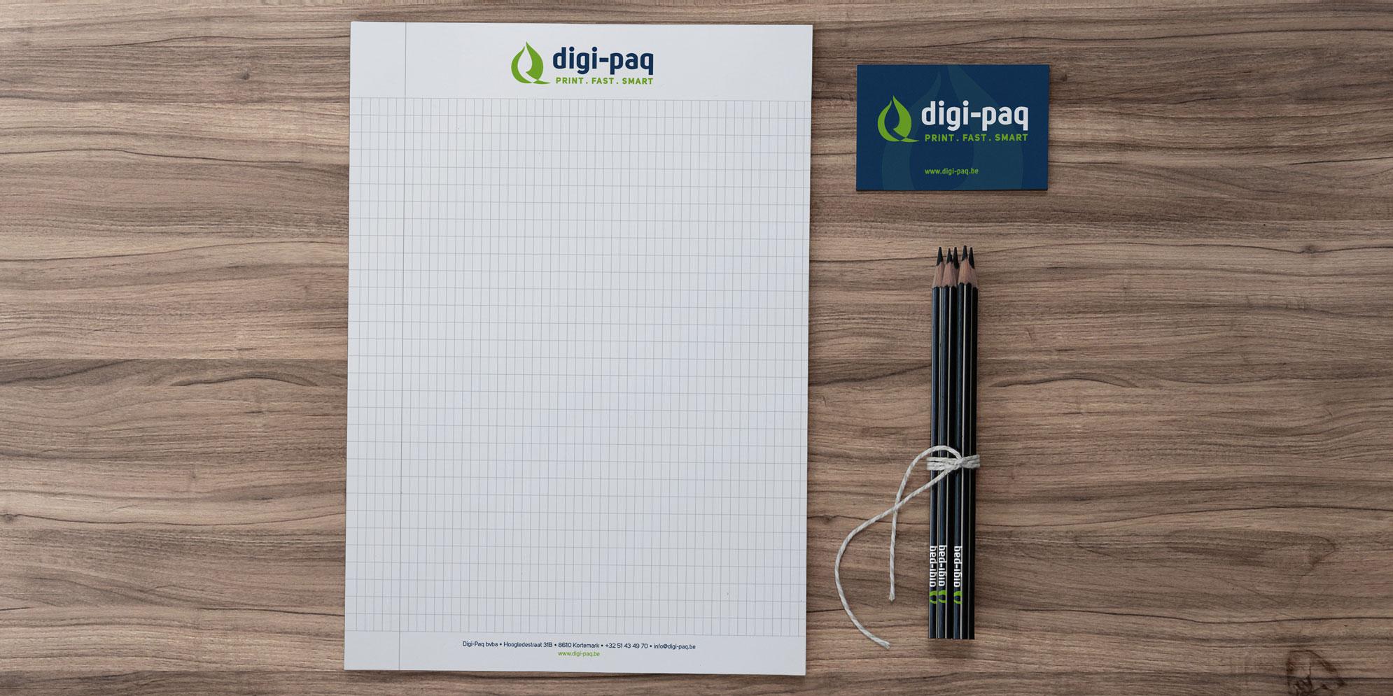 Schrijfblok design Digi-Paq