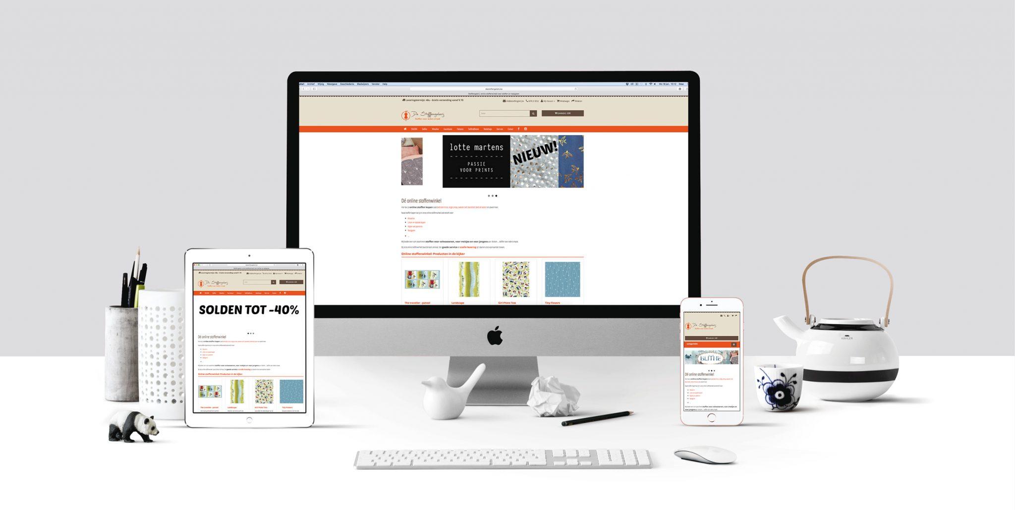 Responsive webshop De Stoffengalerij