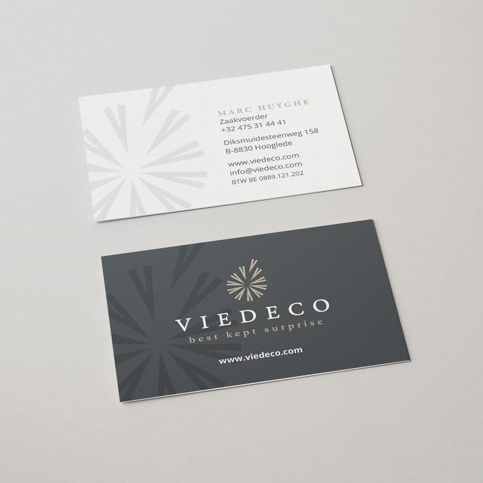 Visitekaartje voor Viedeco